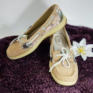 Sperry Top Slider Leather Boat Shoes Size 7M
